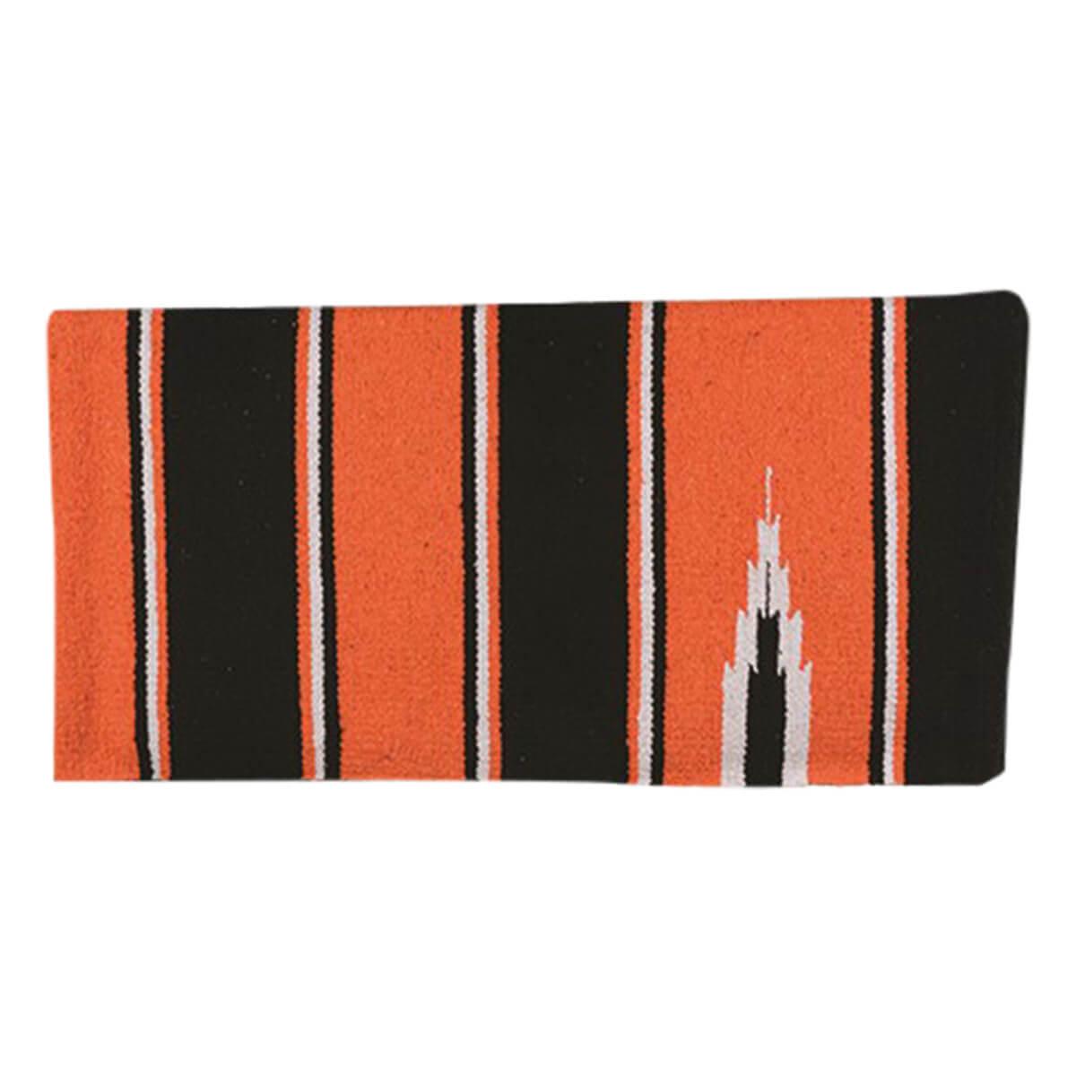 Sierra Navajo Saddle Blanket - Orange/Black