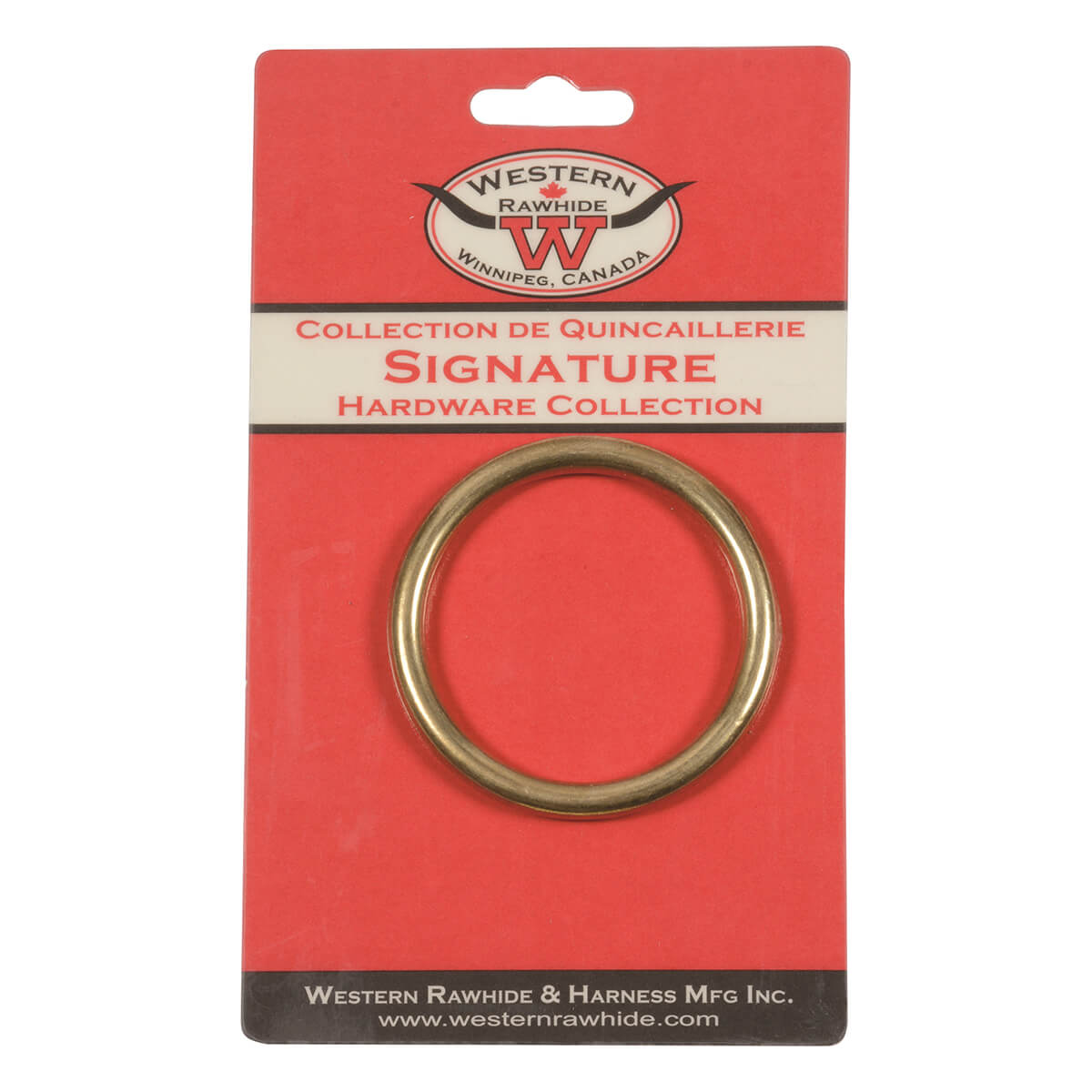 Solid Bronze Harness Rings - 2-in