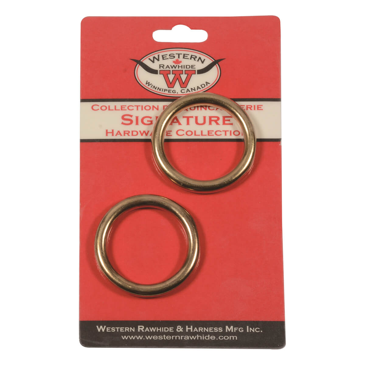 Solid Bronze Harness Rings - 1-1/2-in