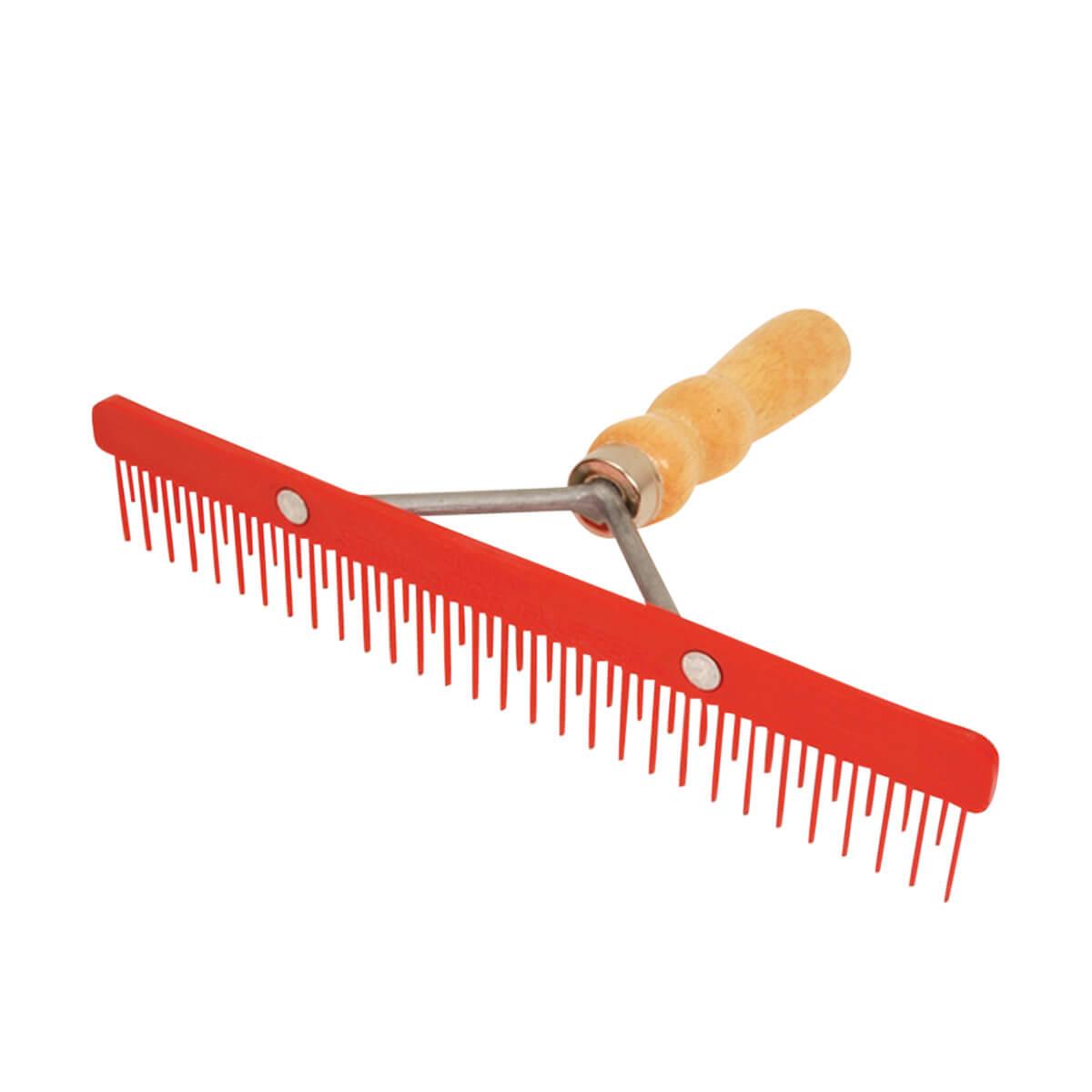Sullivan's Stimulator Fluffer Comb wih Wooden Handle