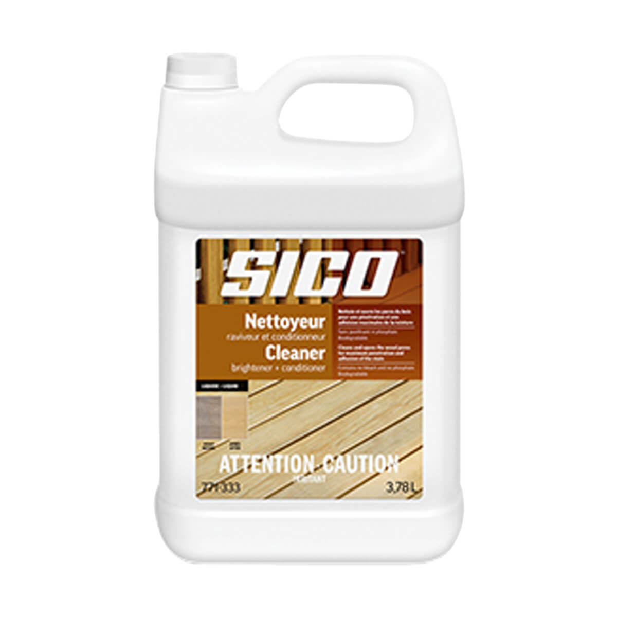 Sico Cleaner - Brightener & Conditioner - Exterior Wood - Liquid - 3.78 L