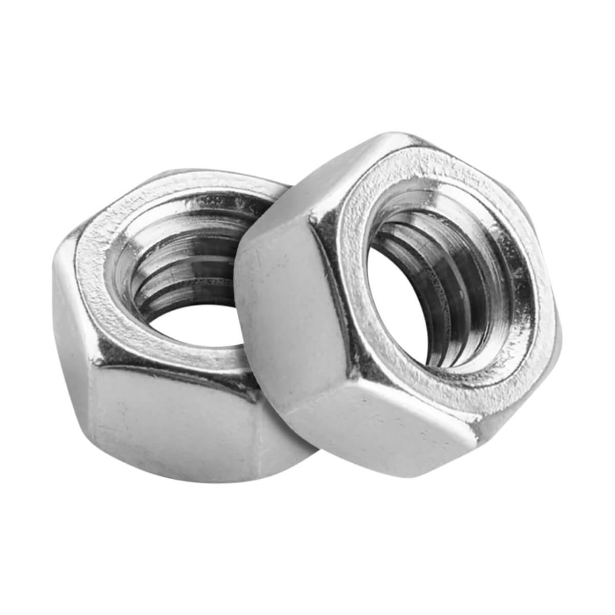 Hexagonal Nut - Zinc Plated - M8 X 1.25 Pitch - 6 Pack
