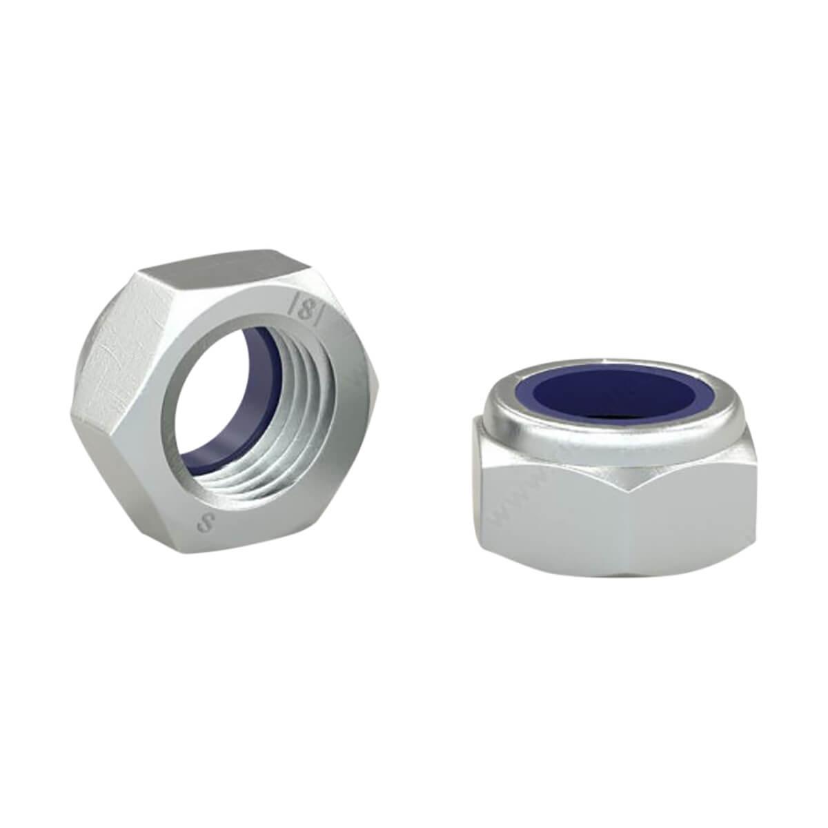 Hex Lock Nut - Metric - M8 - 3 Pack
