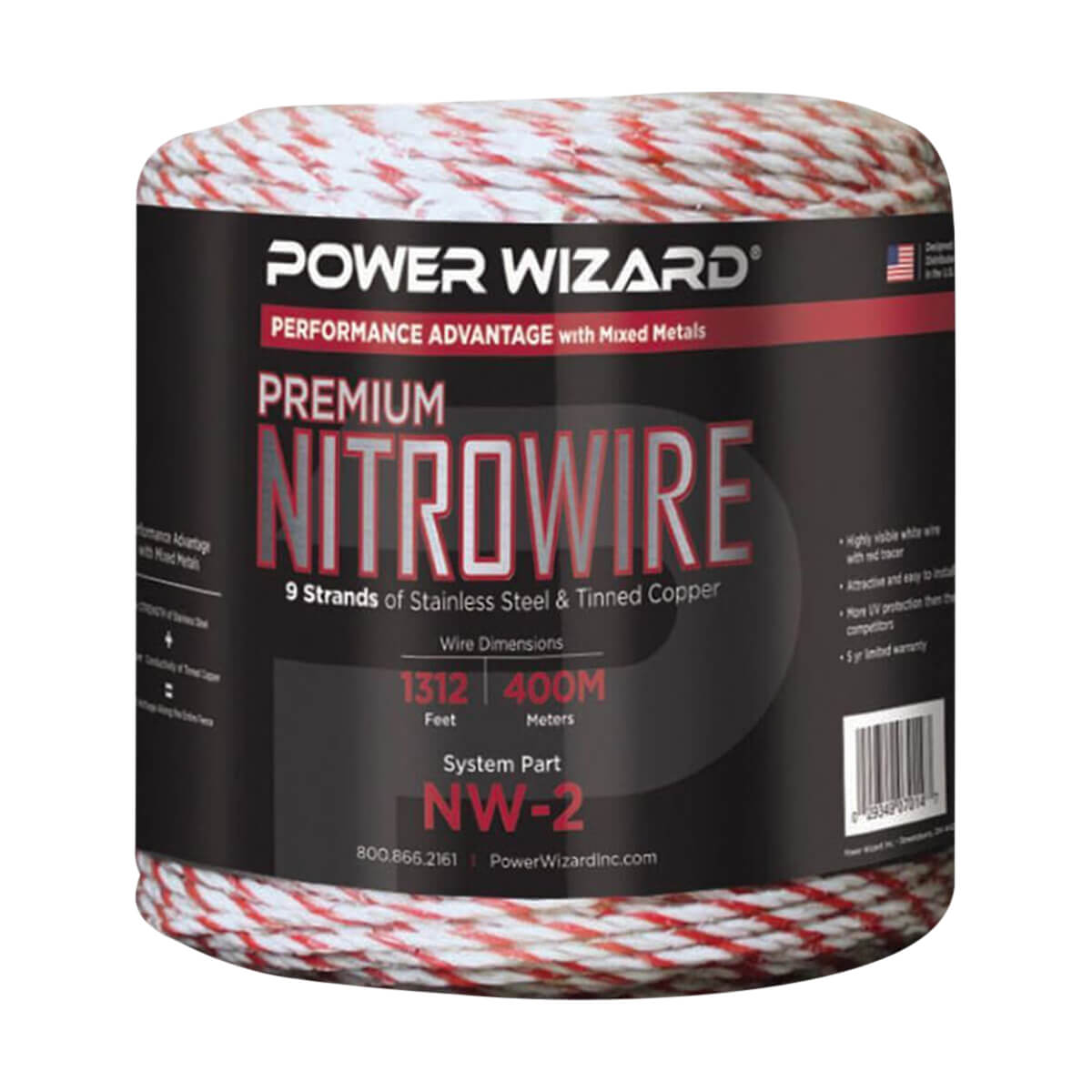Power Wizard 400 m, 9 Strand Nitrowire - 1312 ft / 400 M