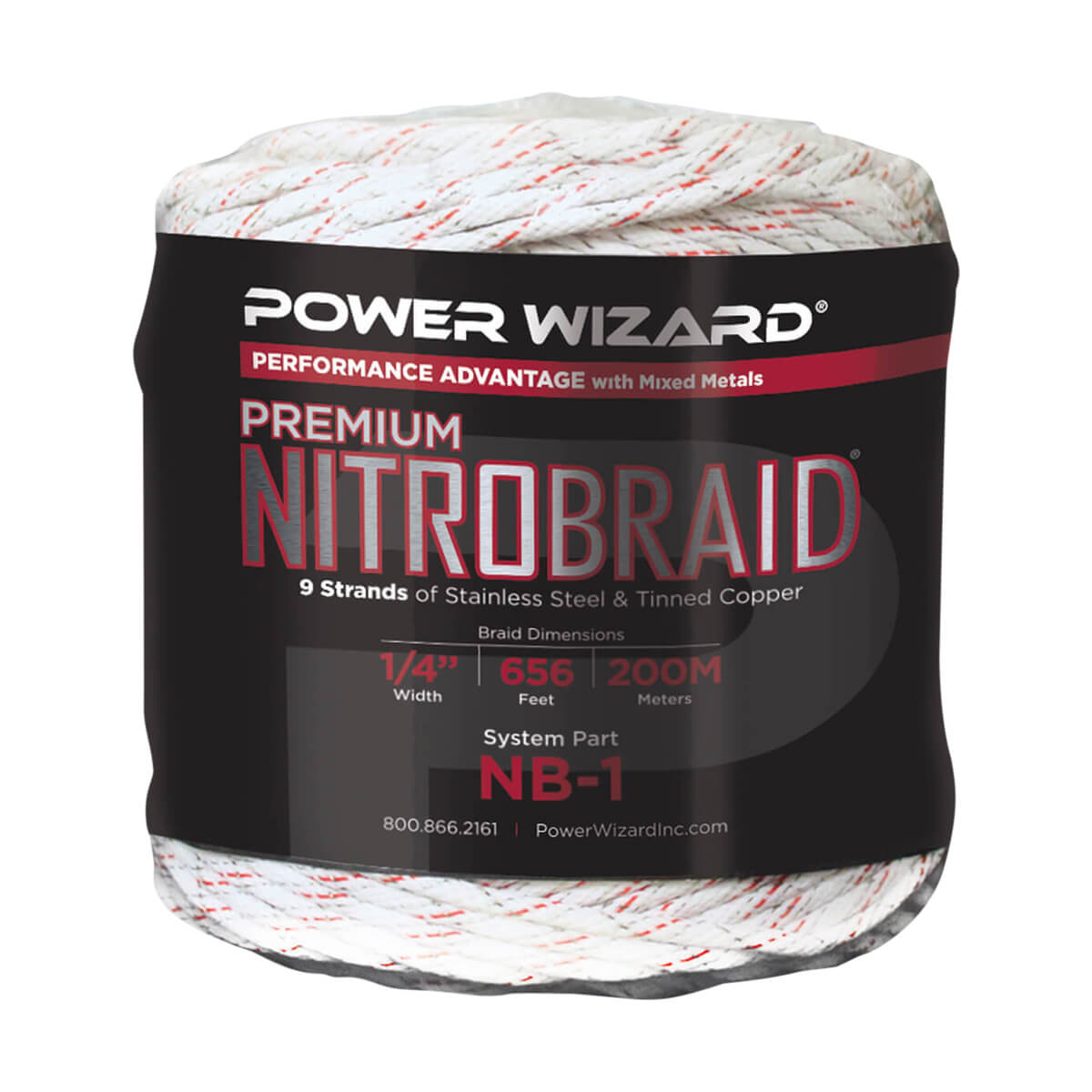 Power Wizard 200 m Nitro Braid NB-1 - 656 ft / 200 M