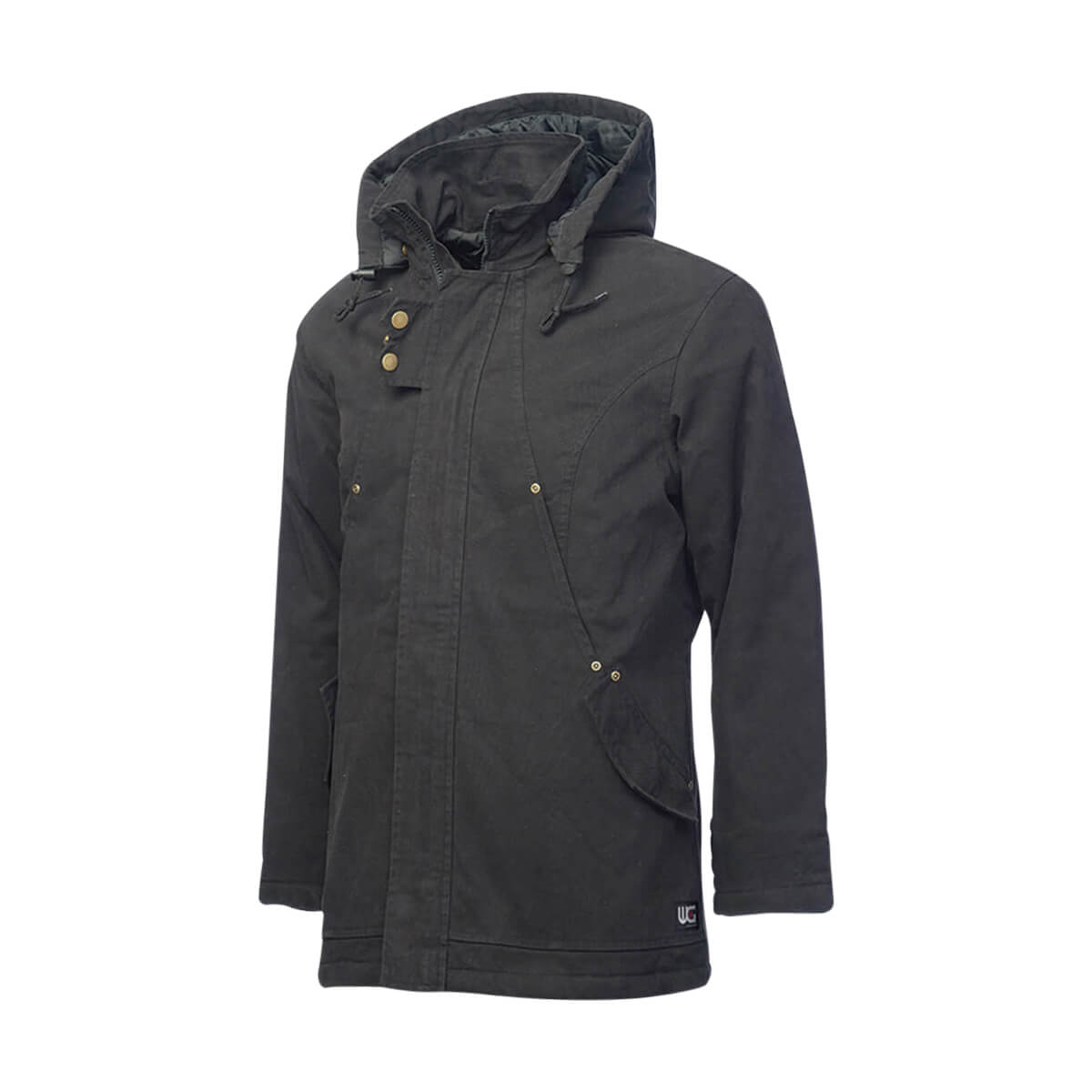 Work King Women's Black Insulated Parka