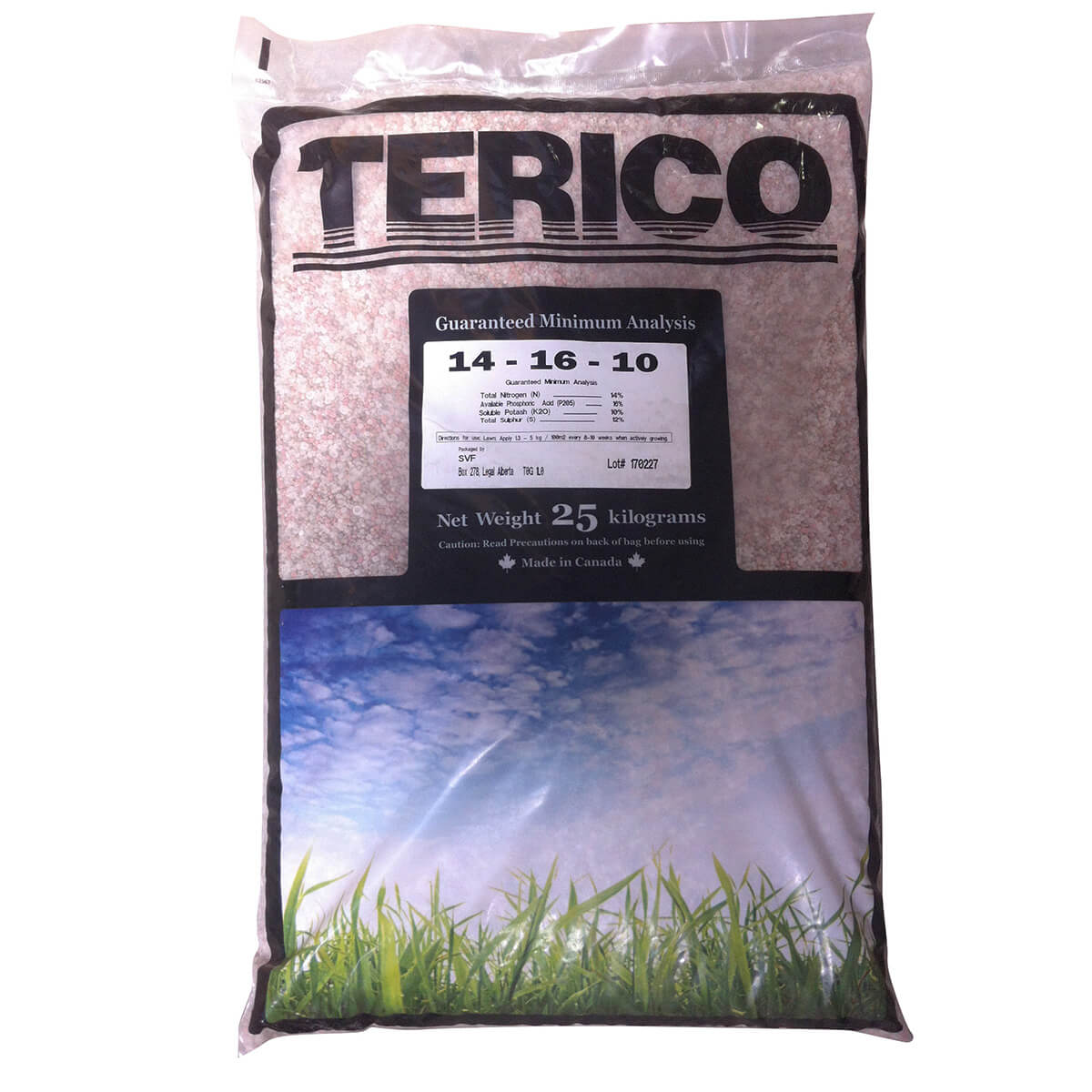 14-16-10 Terico Fall Lawn Fertilizer 25 kg