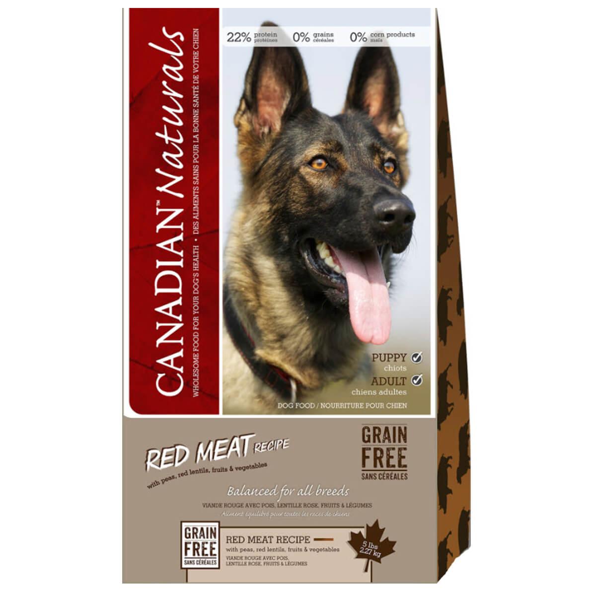 Red Meat Canadian Naturals Dog Food - 11.36 kg