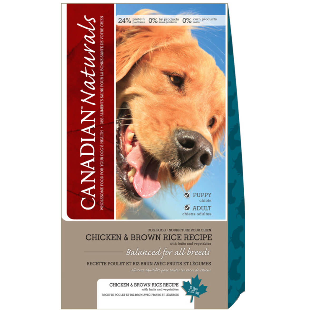 Chicken & Rice Canadian Naturals Dog Food - 13.63 kg