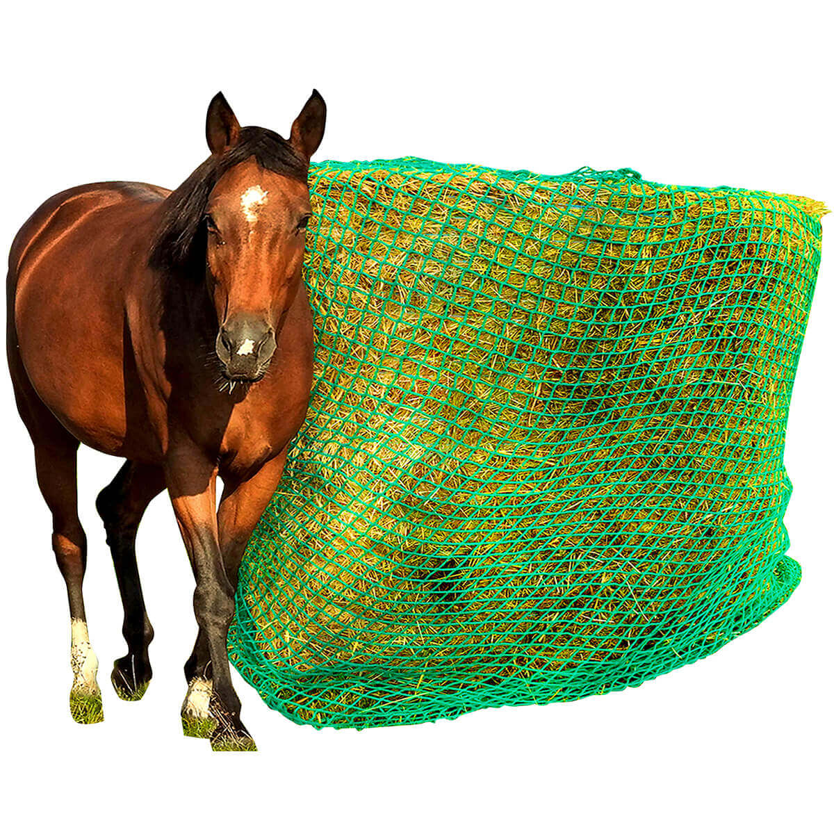 Slow Feeder Hay Net for Round Bales