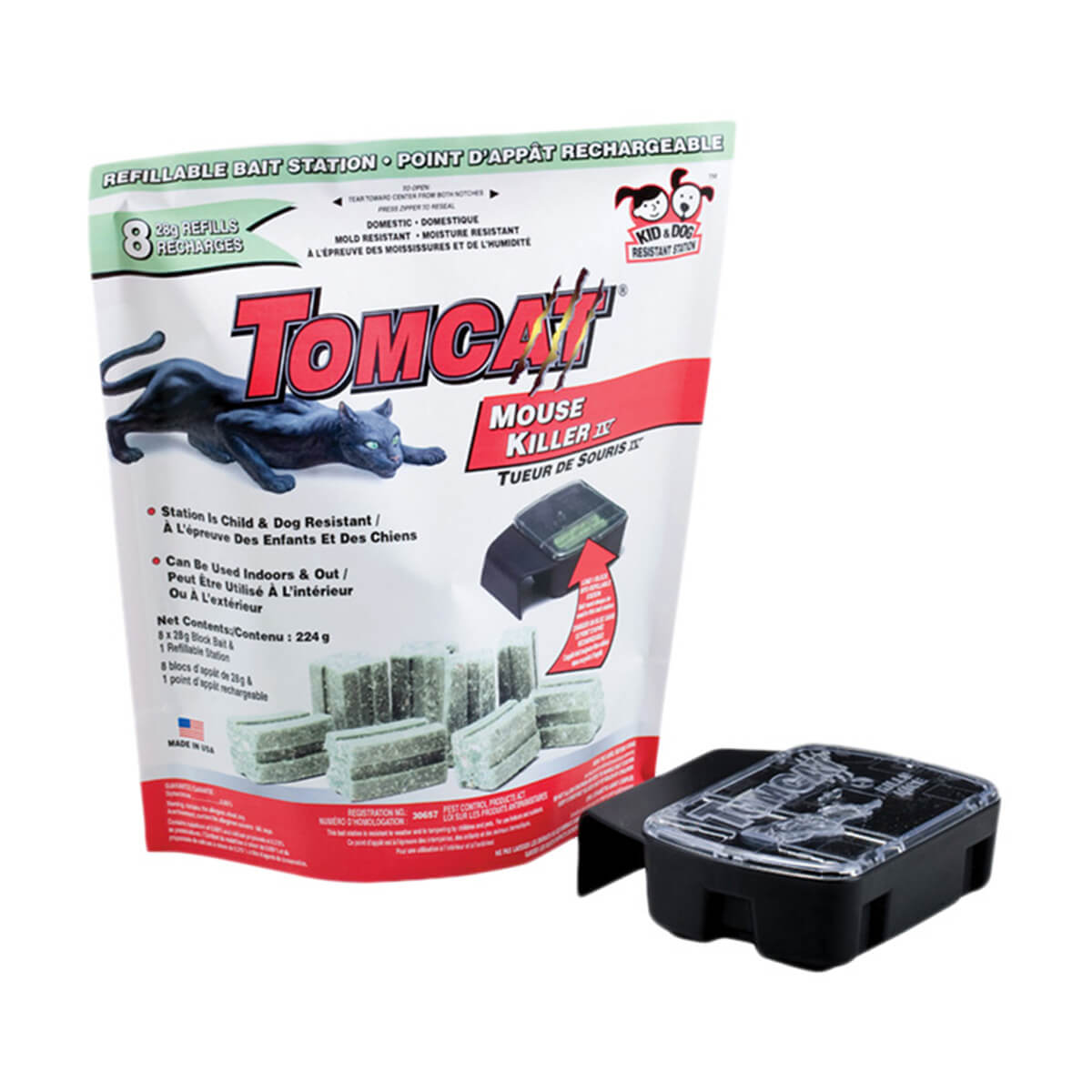 Tomcat Bait Station Domestic Mouse - 8 pack
