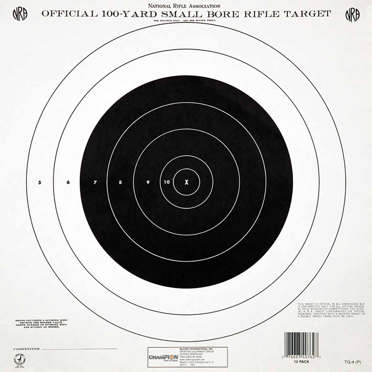 Score Keeper Targets (12-Pack)