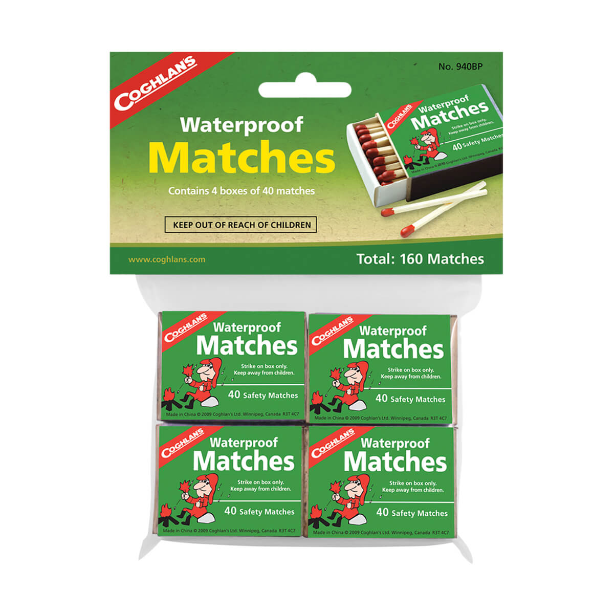 Waterproof Matches (4-Pack)
