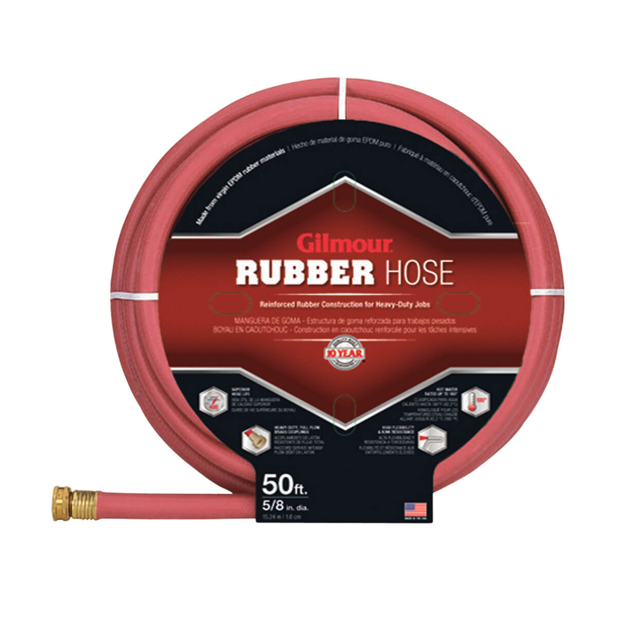 "Gilmour 5/8"" x 50' Rubber Hose"