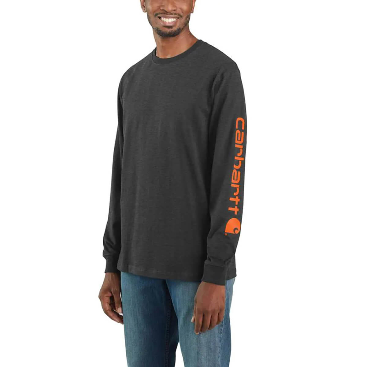 Carhartt Long-Sleeve Graphic Logo - Dark Grey