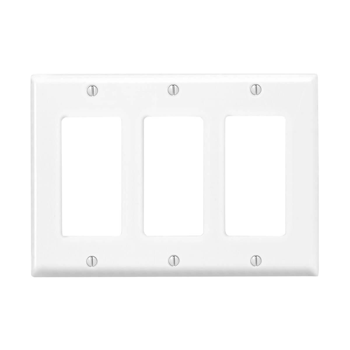 Leviton® Decora 3-Gang Wall Plate - White