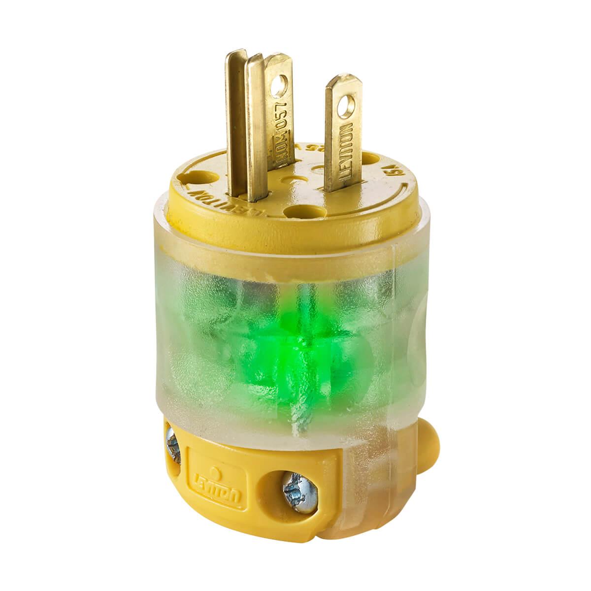Leviton® 15 Amp Straight Blade 3-Wire Plug