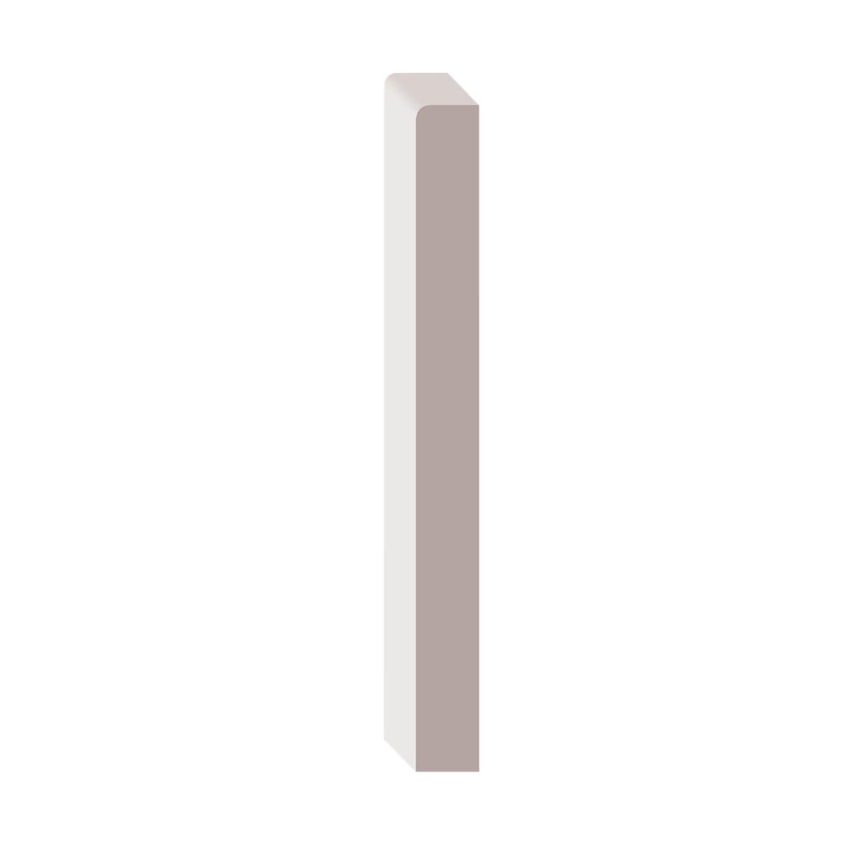 1/2-in x 5-in Primed MDF Baseboard