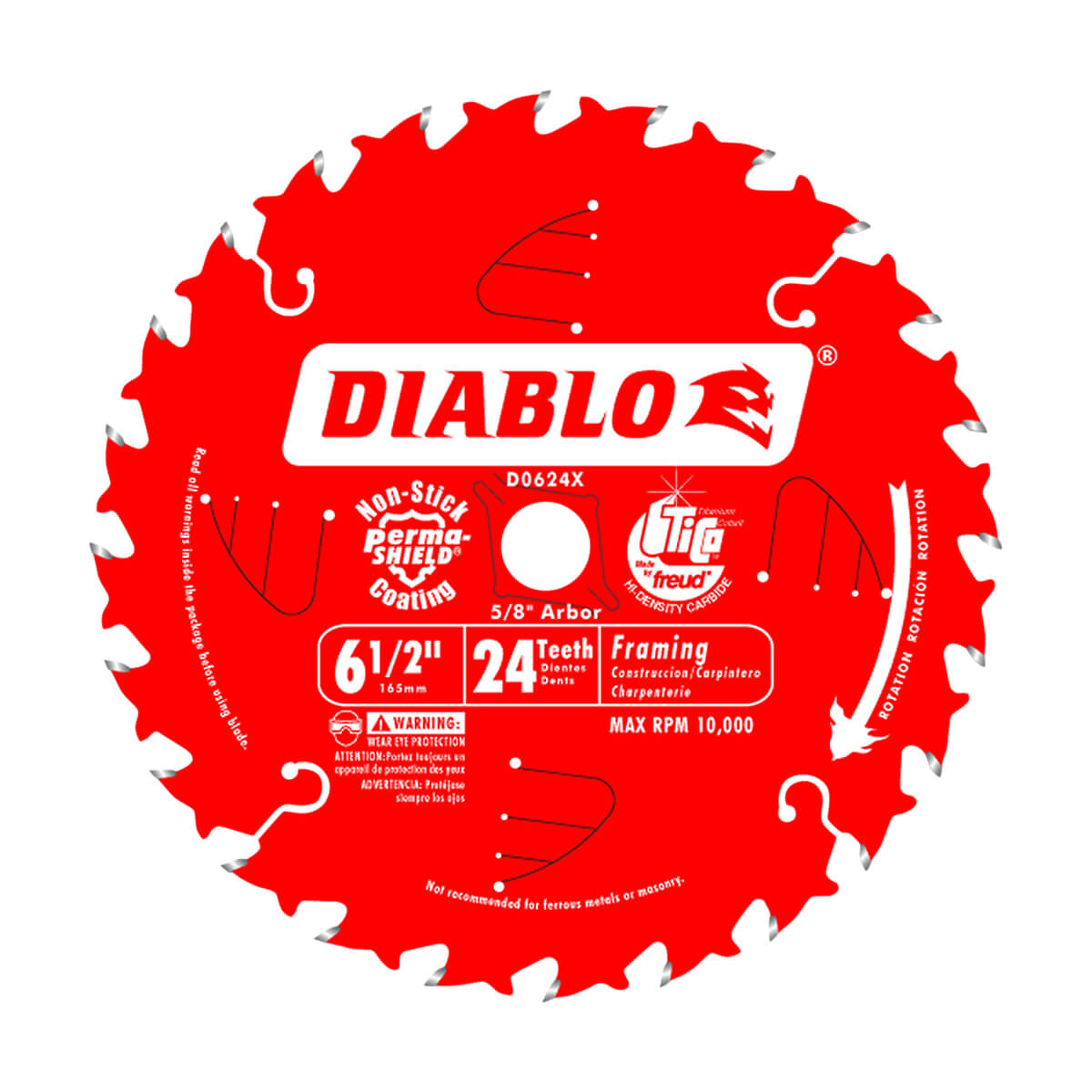 "6-1/2"" Diablo Framing Blade (24 Tooth)"