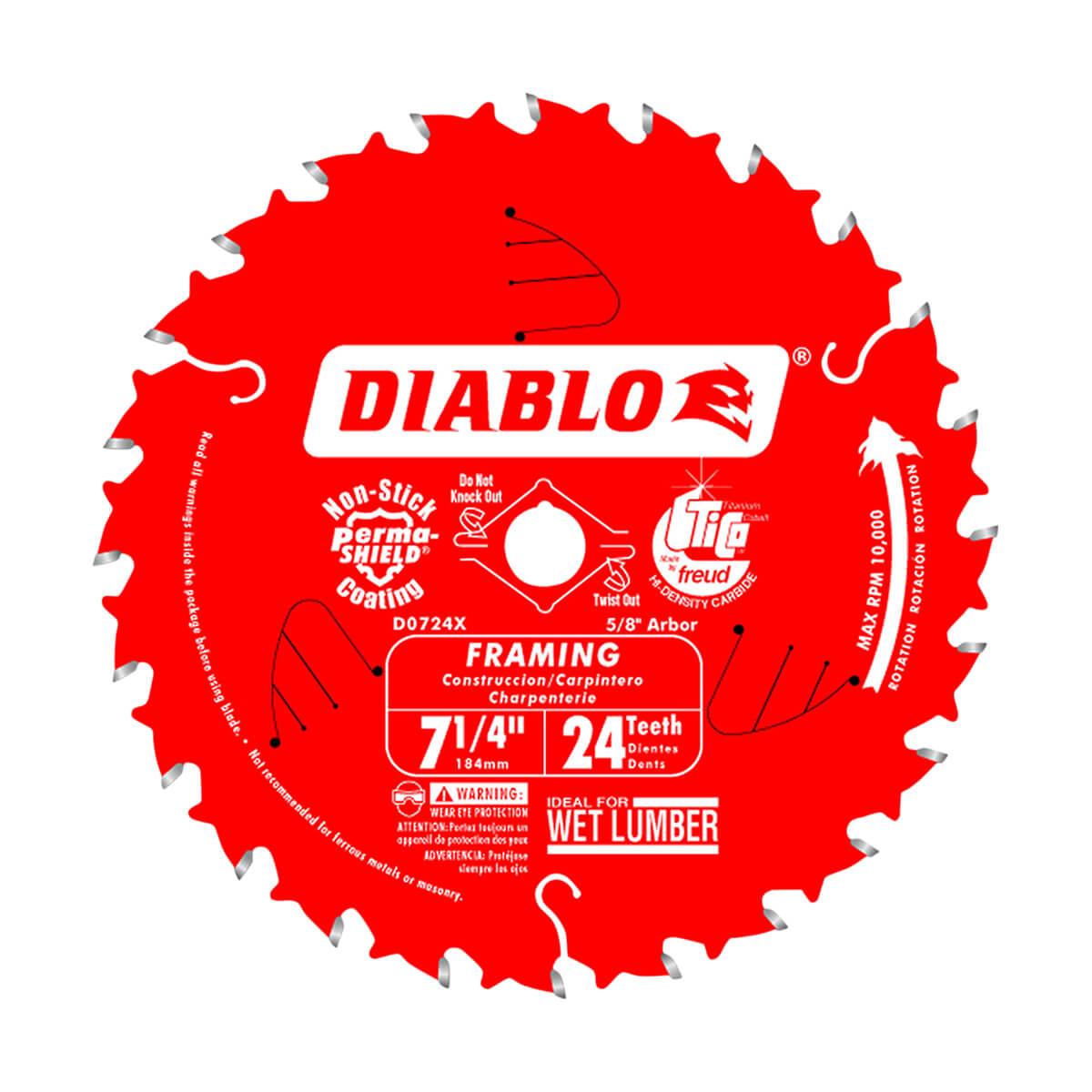 "7-1/4"" Diablo Framing Blade (24 Tooth)"