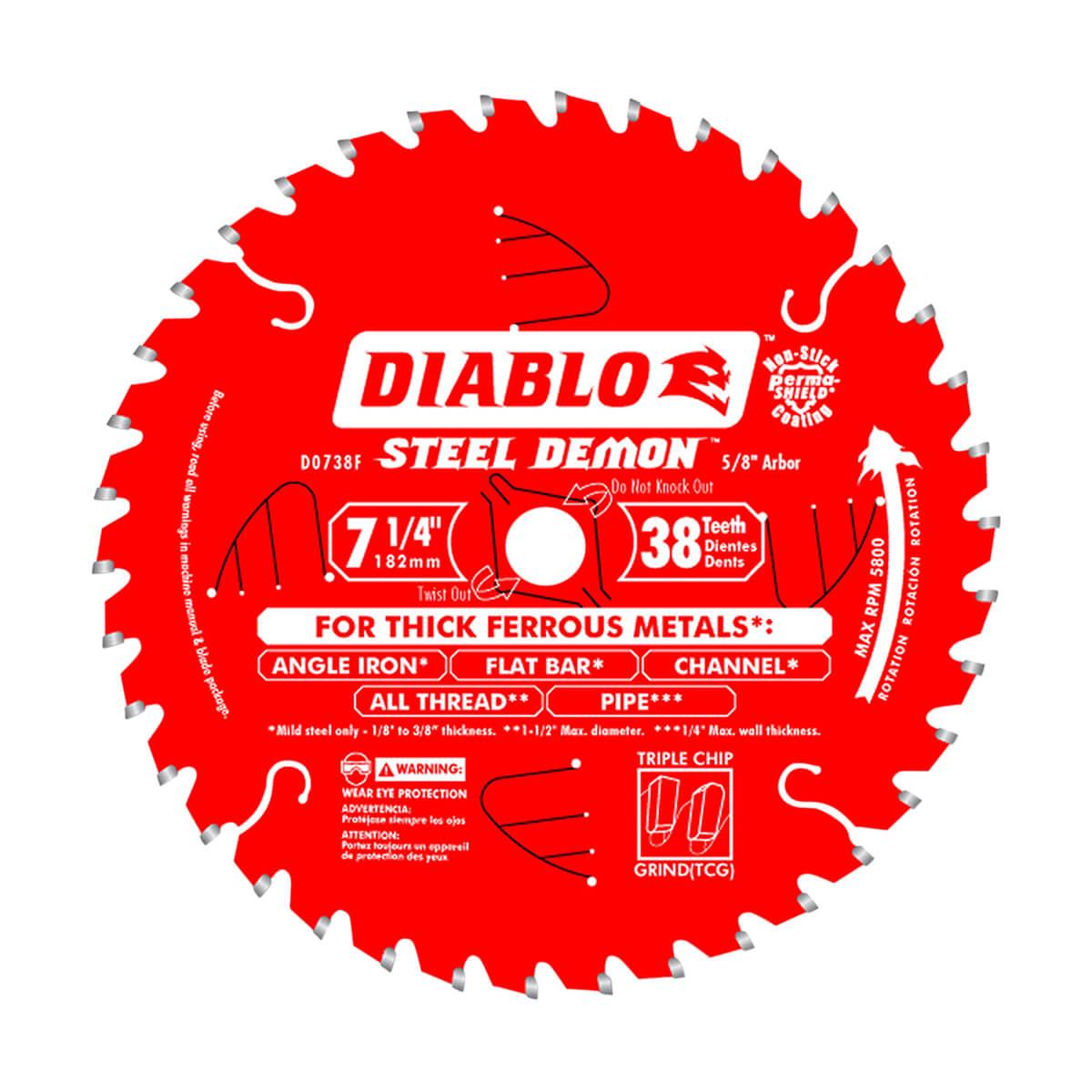 """7-1/4"""" Diablo Ferrous Metal Blade"""