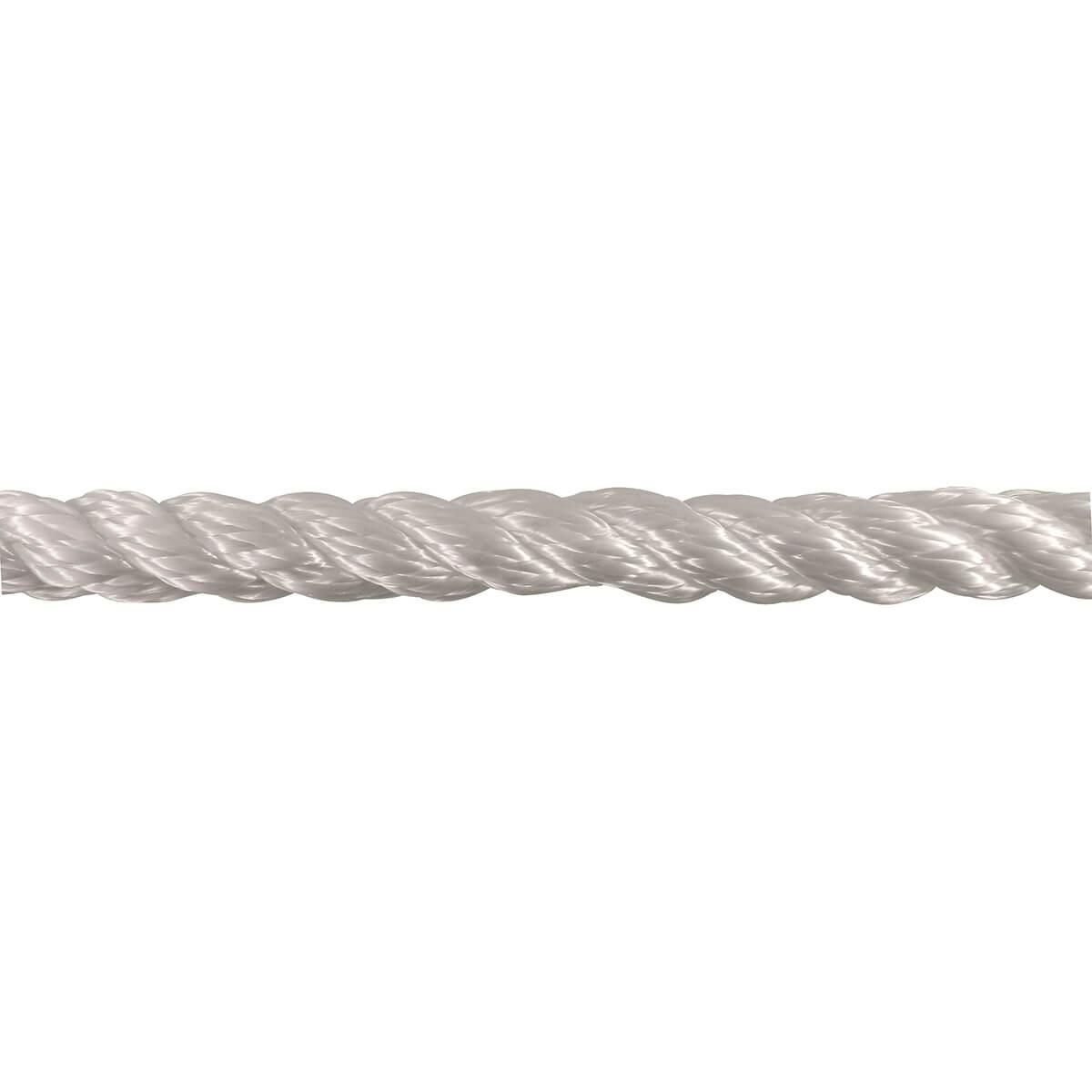 Nylon Twisted Rope - White