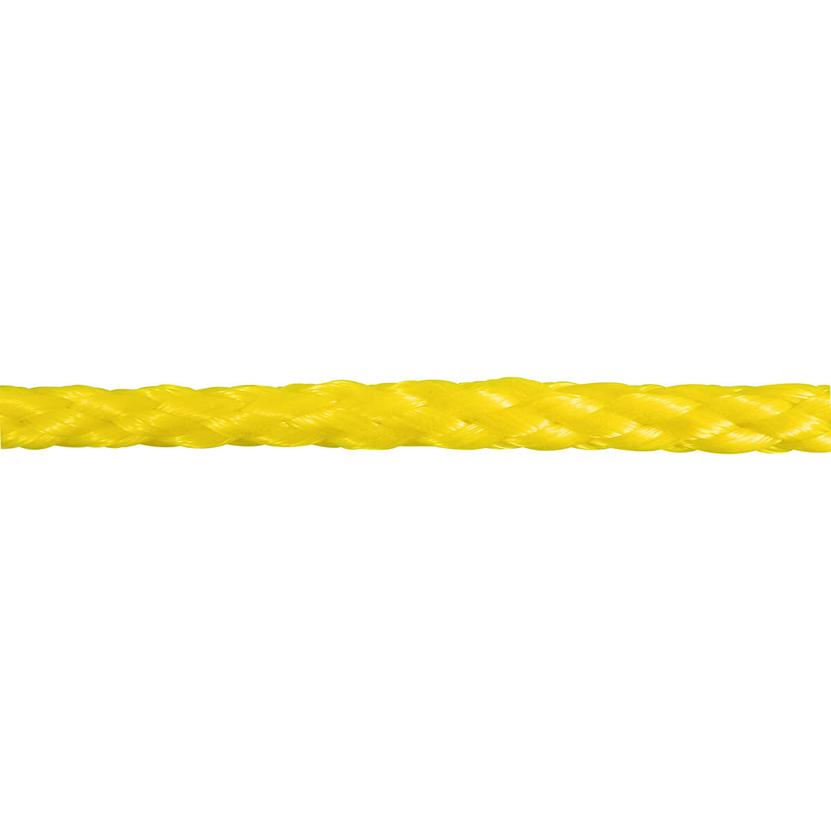 Polypropylene Hollow Core Rope - Yellow - 1/4-in x 50-ft