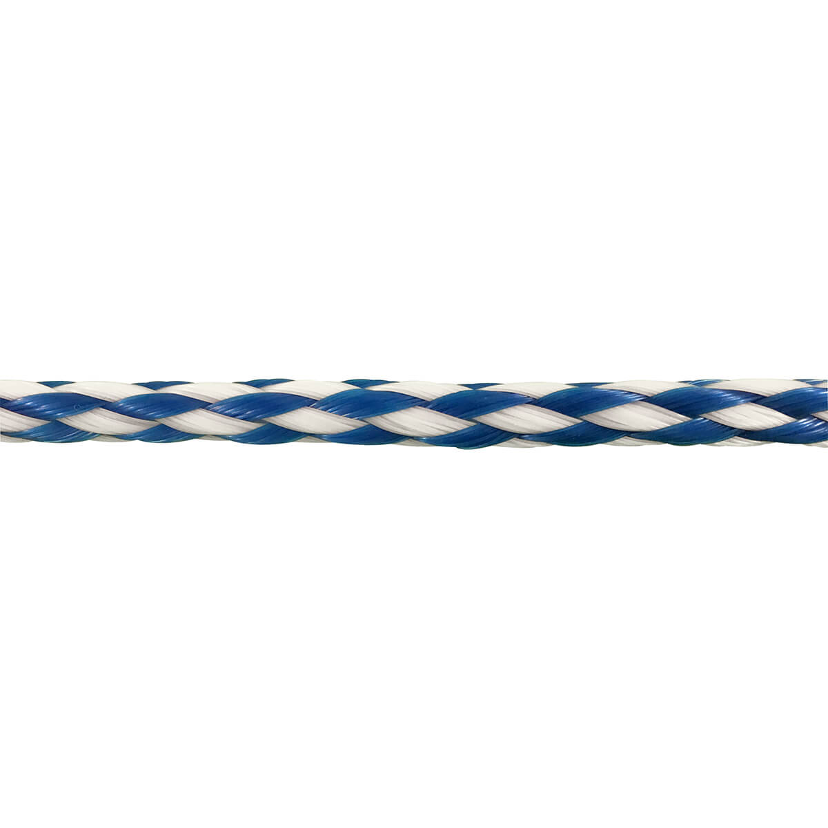 Polypropylene Hollow Core Rope - Blue/White - 3/8-in x 50-ft