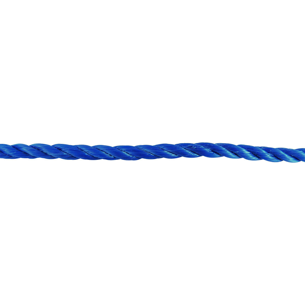 Polypropylene Twisted Rope - Blue - 1/4-in x 100-ft