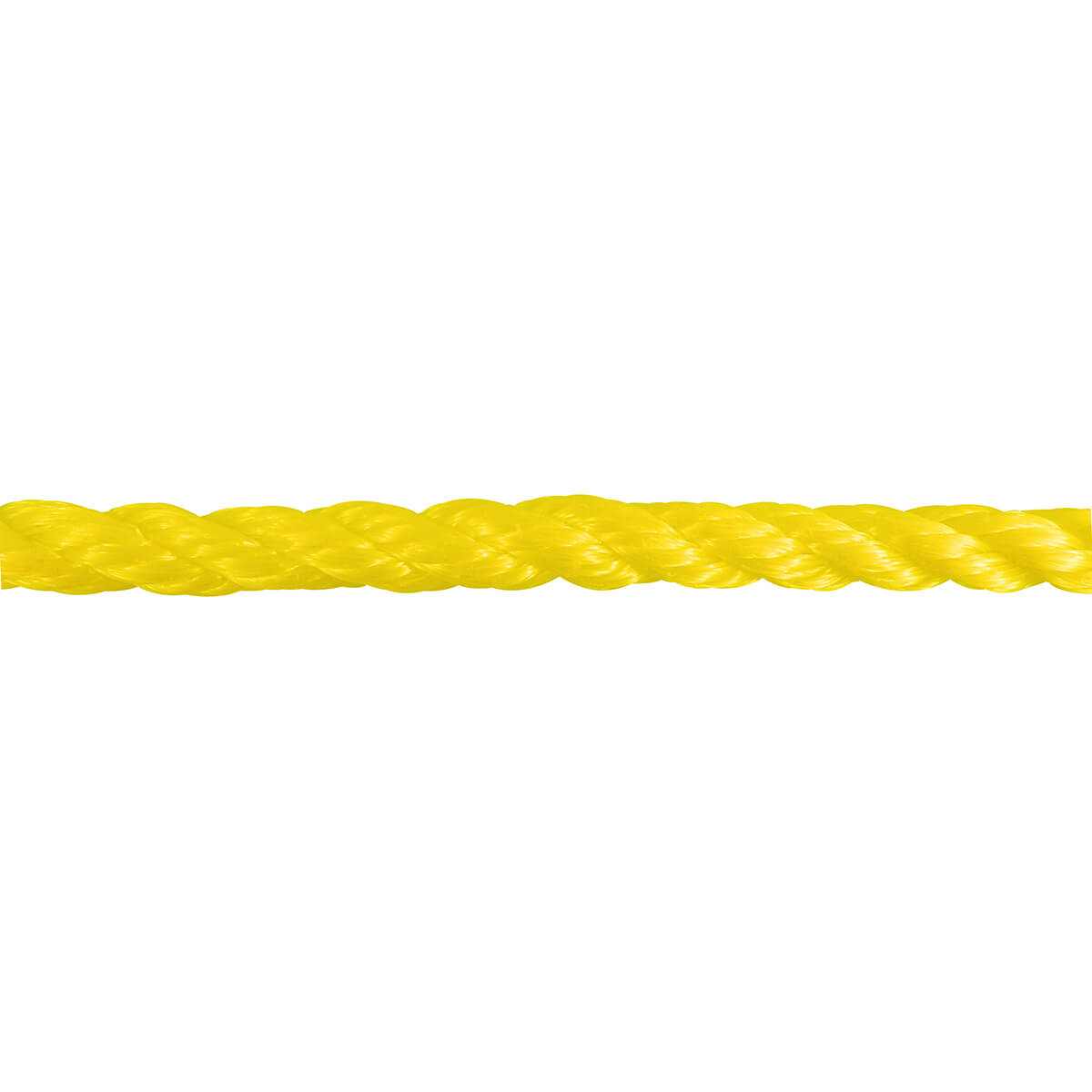 Polypropylene Twisted Rope - Yellow - 1/4-in x 100-ft
