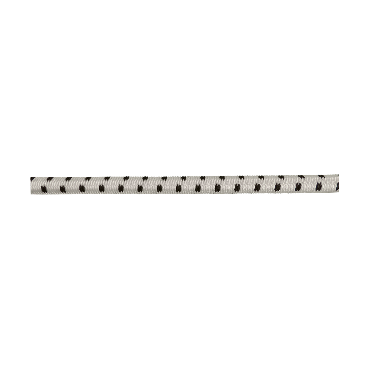 "Rubber Center Elastic Rope - Black/White - 3/16"" (price per foot)"