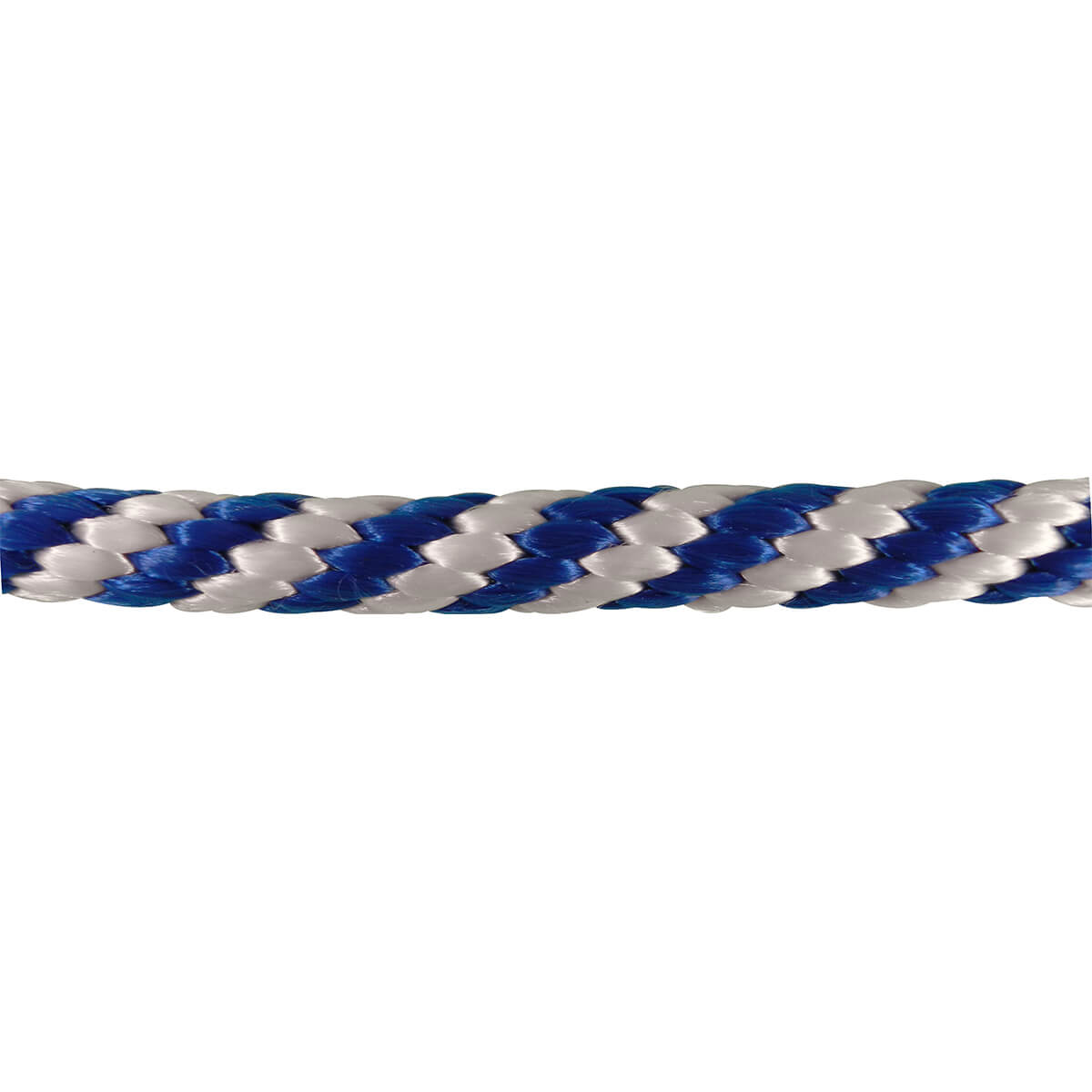 "Polypropylene Solid Braid Rope - Blue/White - 5/8"" (price per foot)"