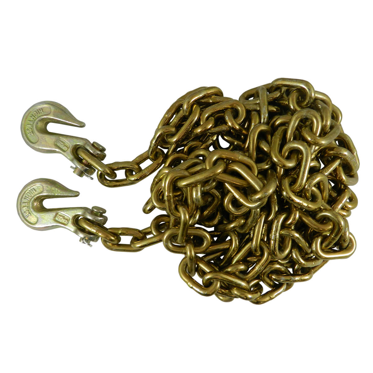 """Chain with Clevis Grab Hooks - Grade 70 - 5/16"""" x 14'"""