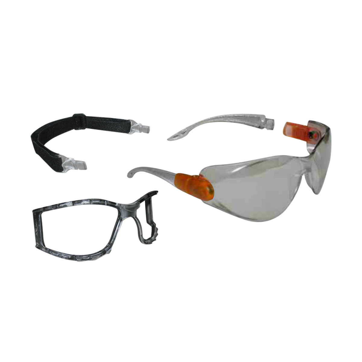 WorkHorse® 2-in-1 Safety Glasses - Clear Lens