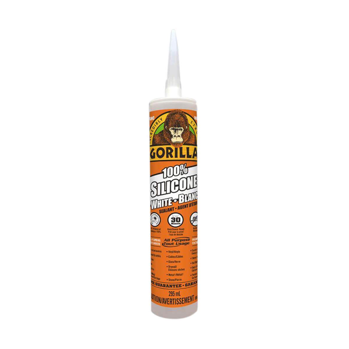 Gorilla 100% Silicone Sealant - White - 10 oz