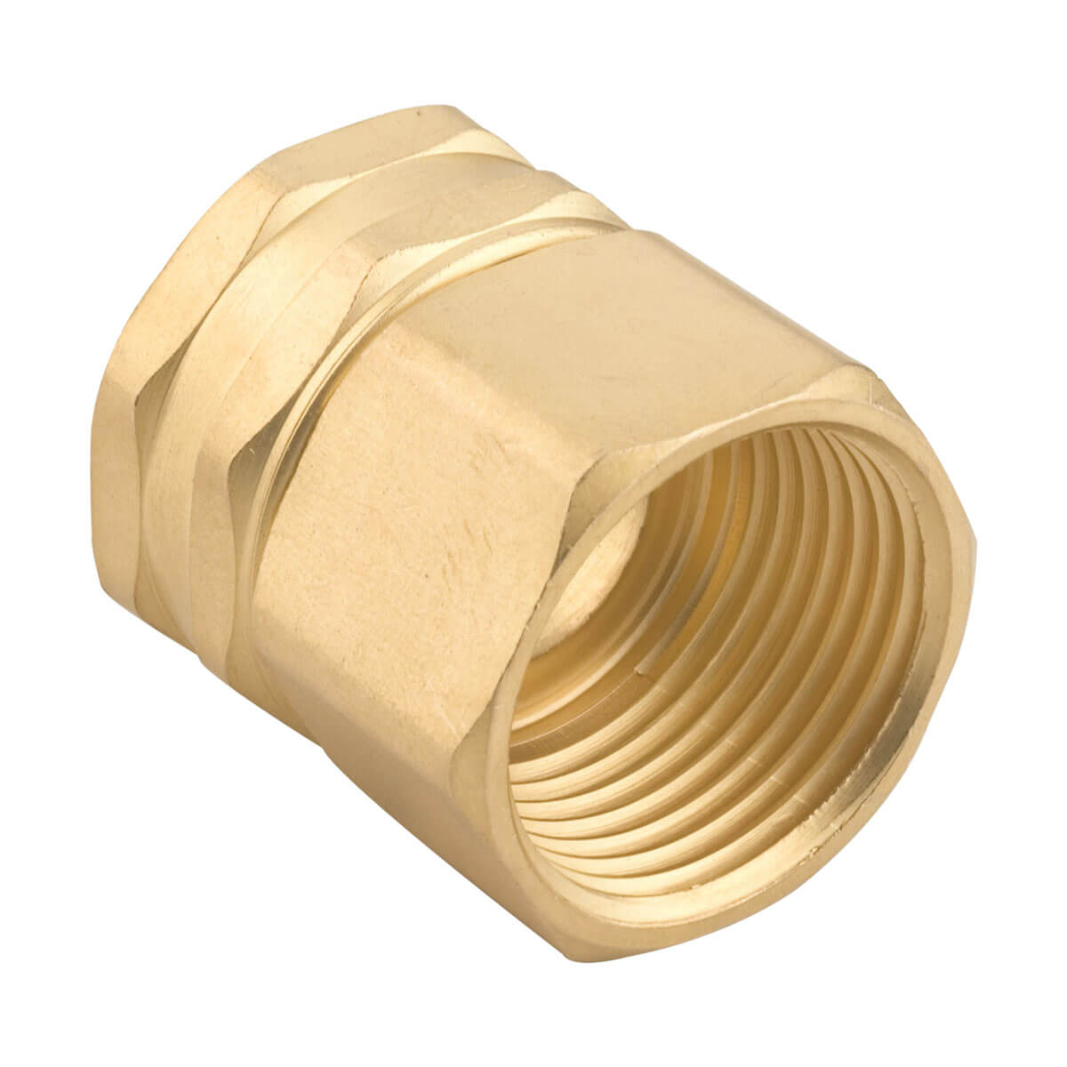 """Gilmour 7FPS7FH Brass Connector - 3/4"""" NPT x 3/4"""" NH"""