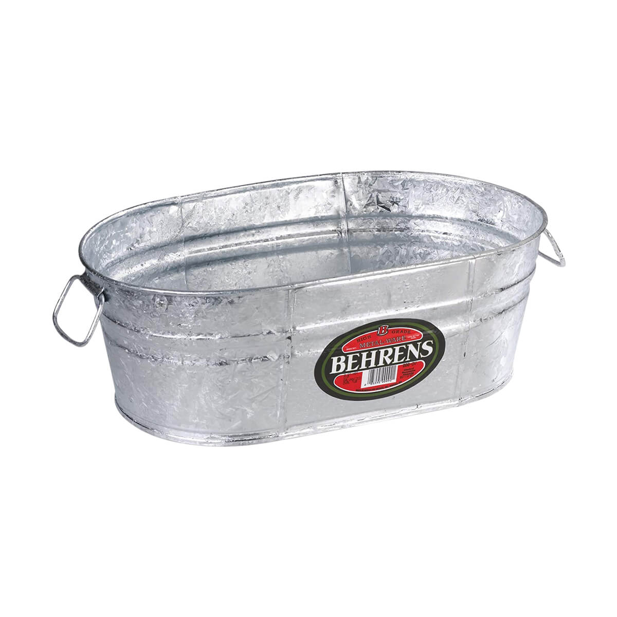 4 Gallon Oval Galvanized Tub Planter