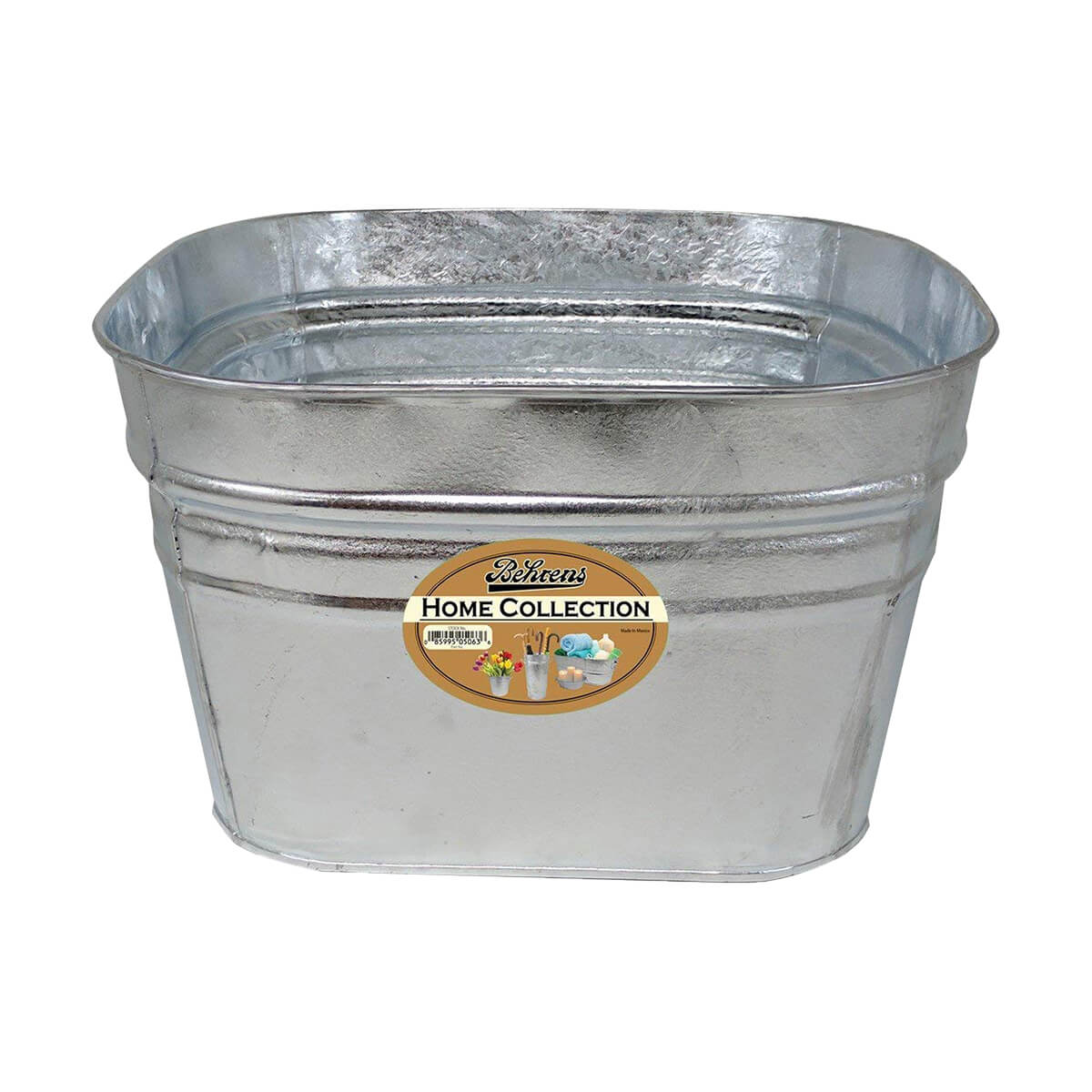 12 Gallon Square Galvanized Tub Planter