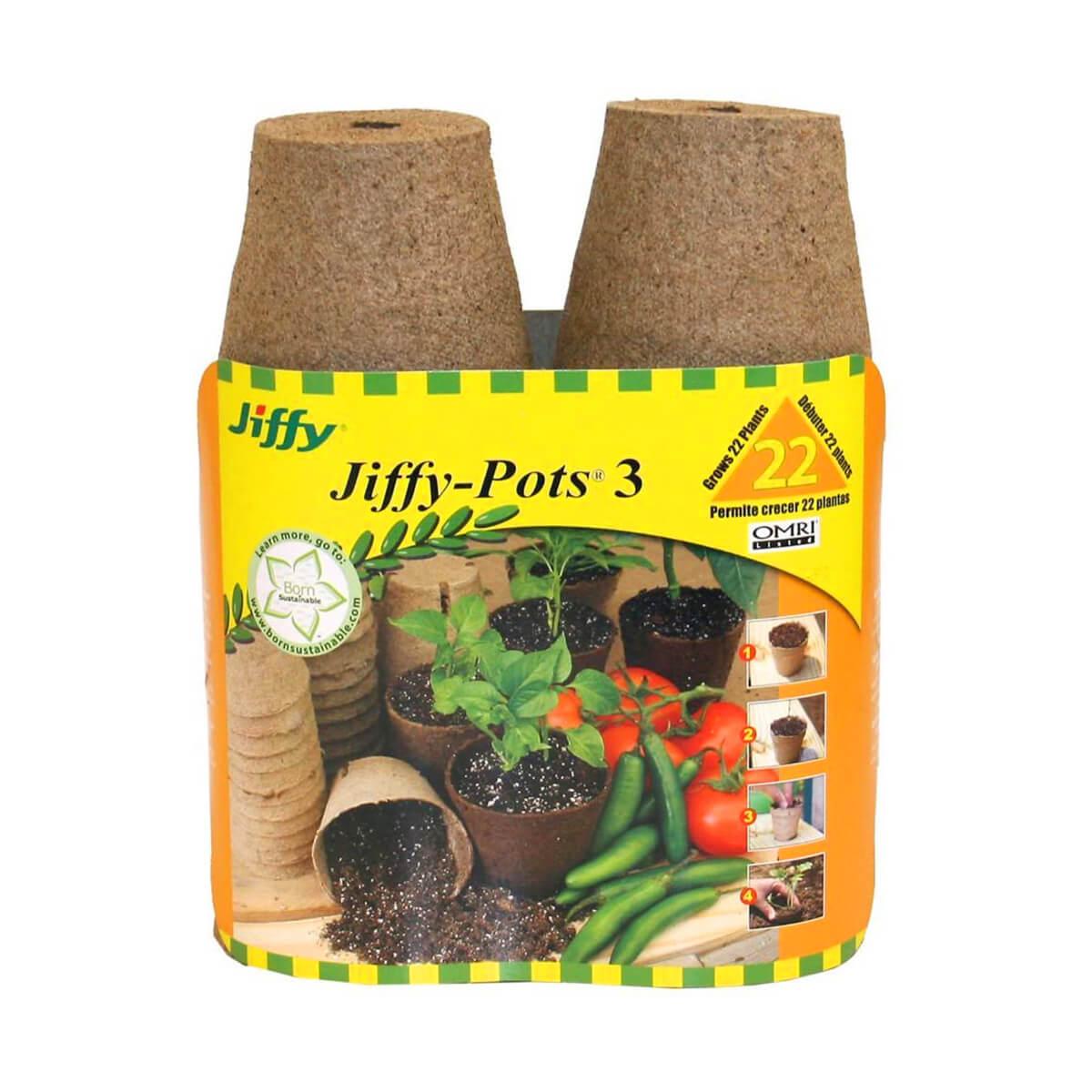 "JP322 Round Peat Pot - 3"" - 22 Pack"