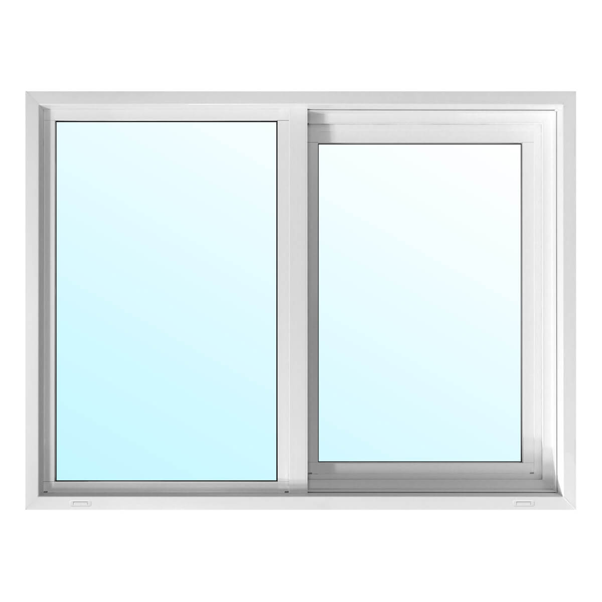 Alpine PVC Slider Window with 6-1/2-in Jamb - Low-E Glass - 40-in x 36-in