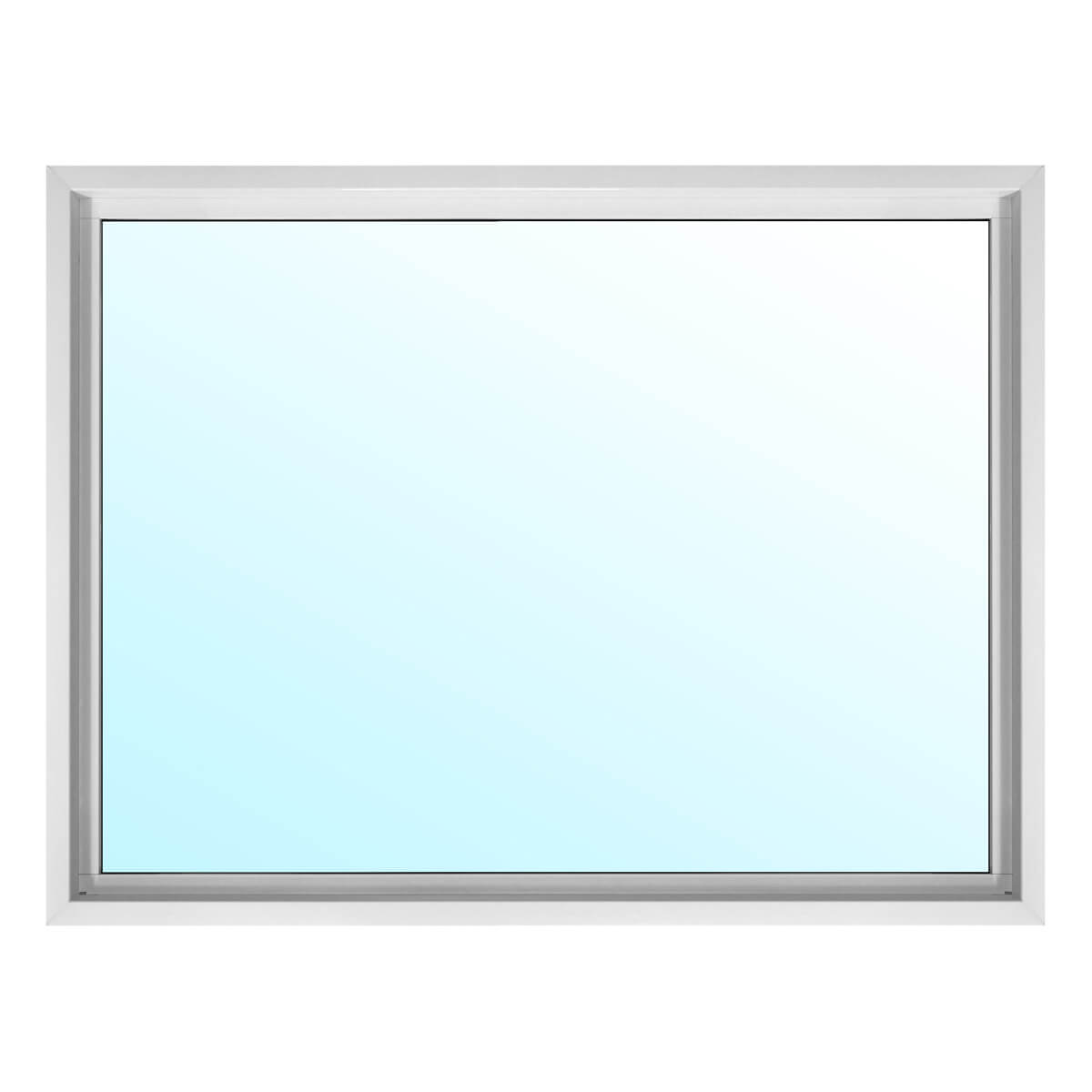 Alpine PVC Picture Window with 6-1/2-in Jamb - Low-E Glass - 40-in x 36-in