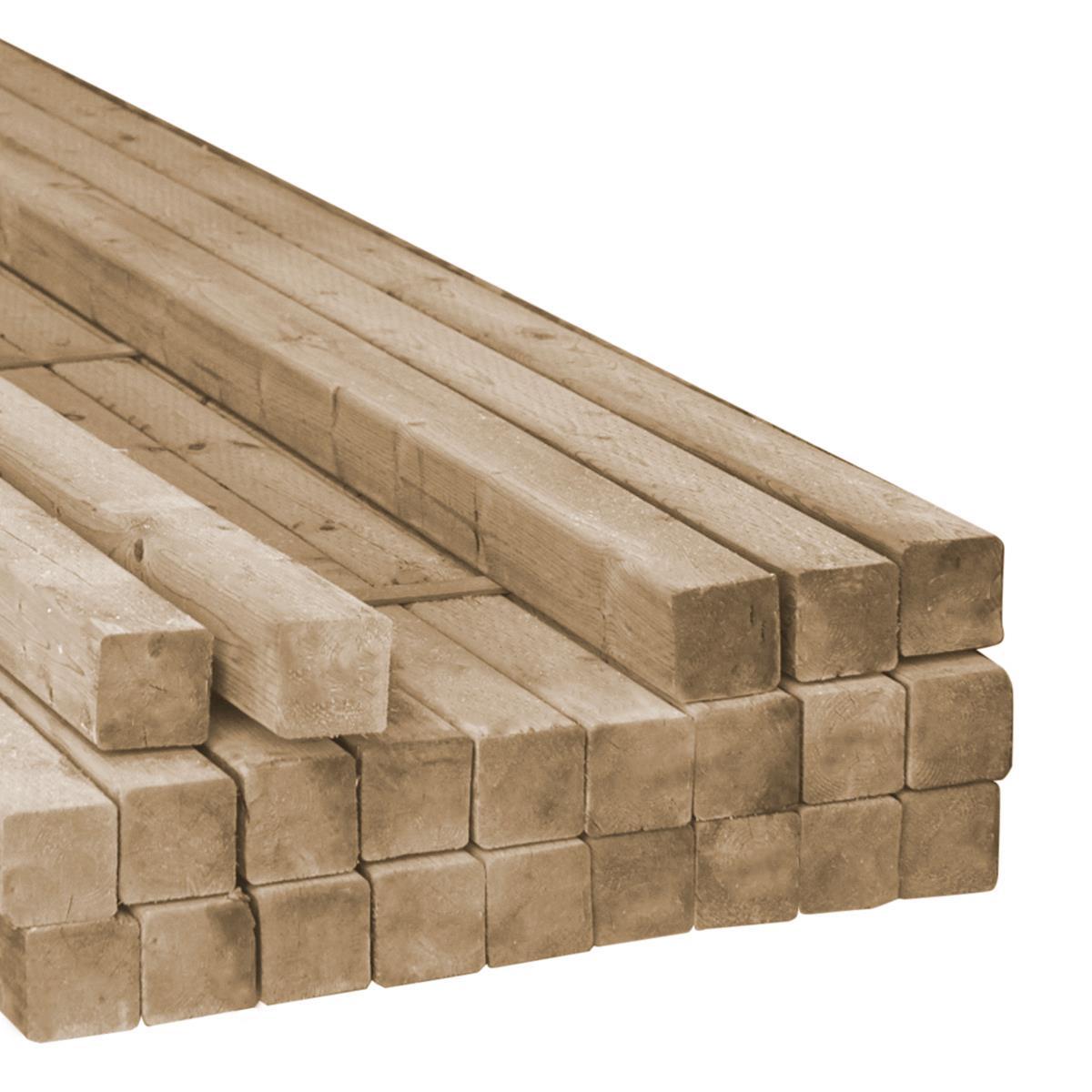 BRN Pressure Treated Rough Timbers - 6 x 6 x 8'