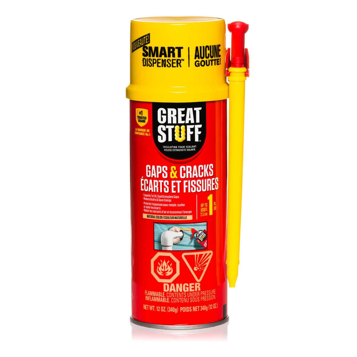 Great Stuff Insulating Foam - Gaps and Cracks - Cream - 12 oz