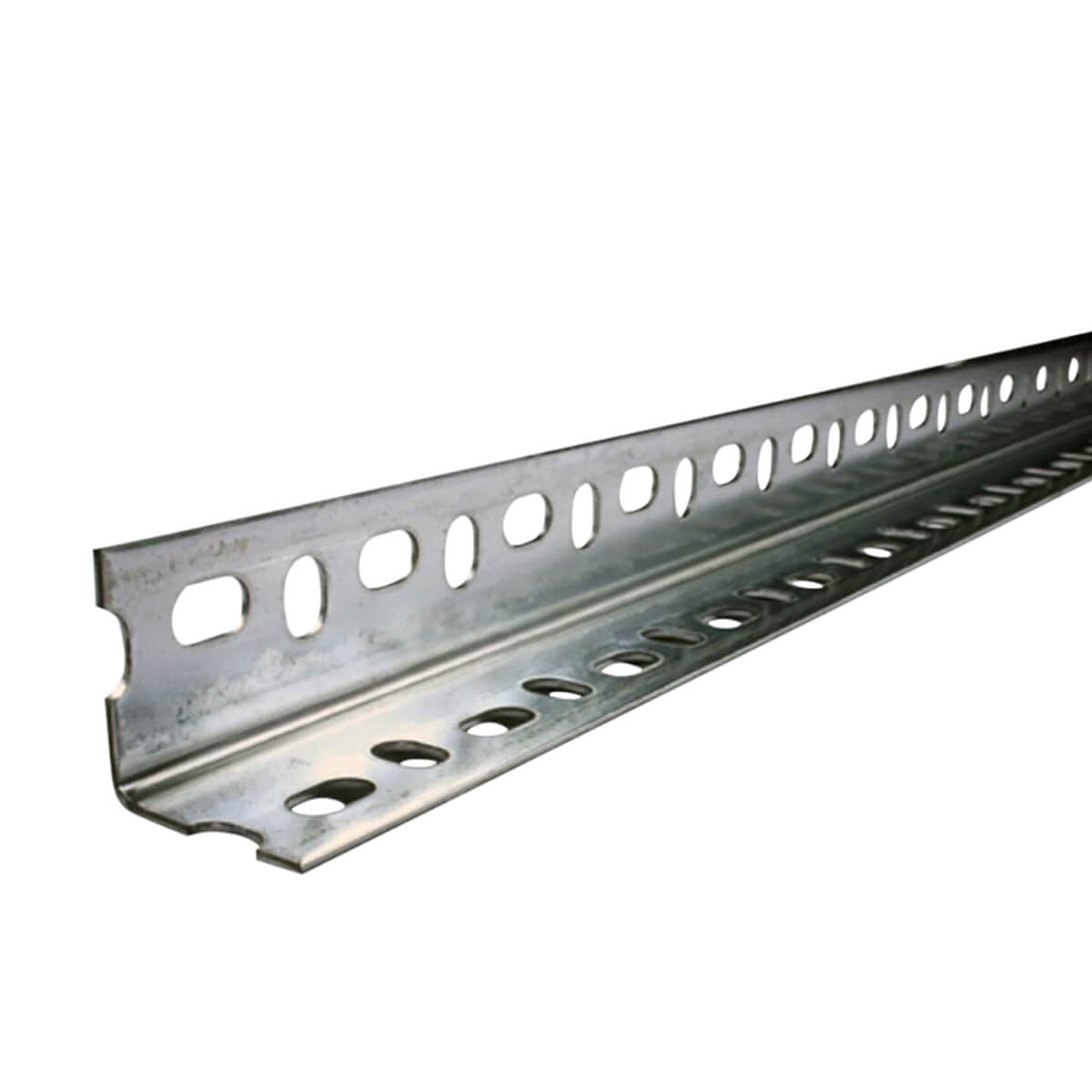 """Perforated Galvanized Steel Angle Bar - 1-1/2"""""""