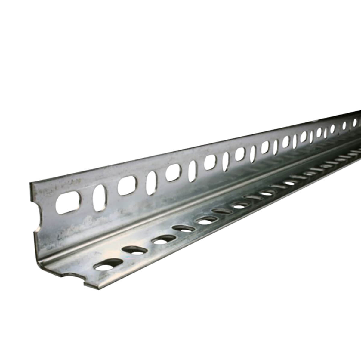 """Perforated Galvanized Steel Angle Bar - 1-3/8"""""""