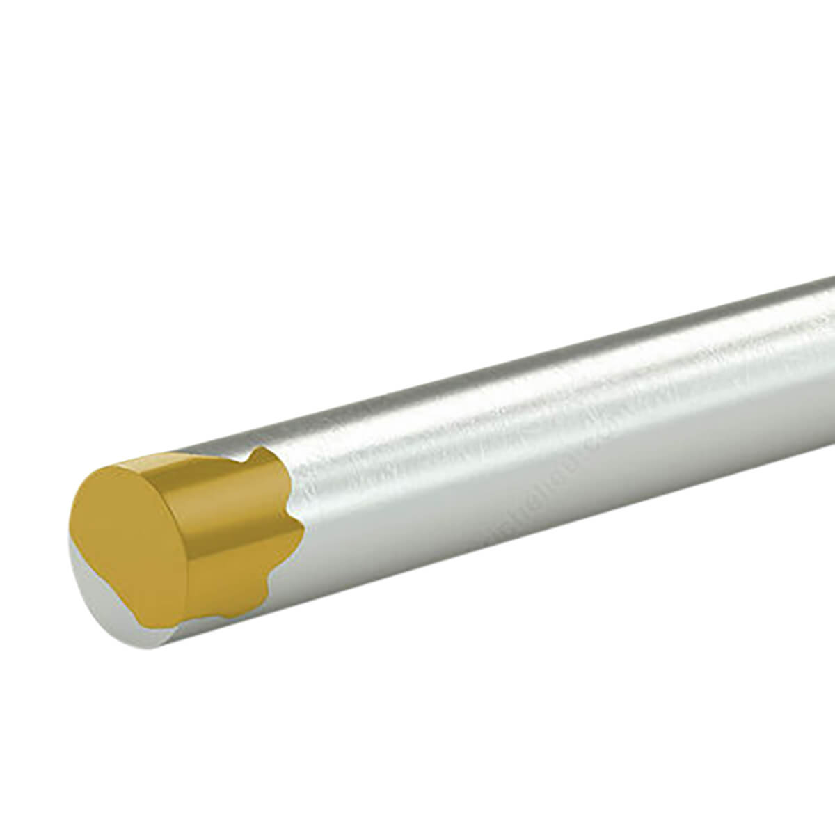 Unthreaded Rod - Yellow Tip - 3/8-in X 36-in