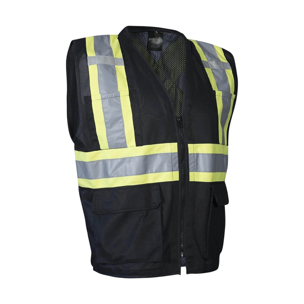 Forcefield Hi Vis Safety Vest with Front Zipper