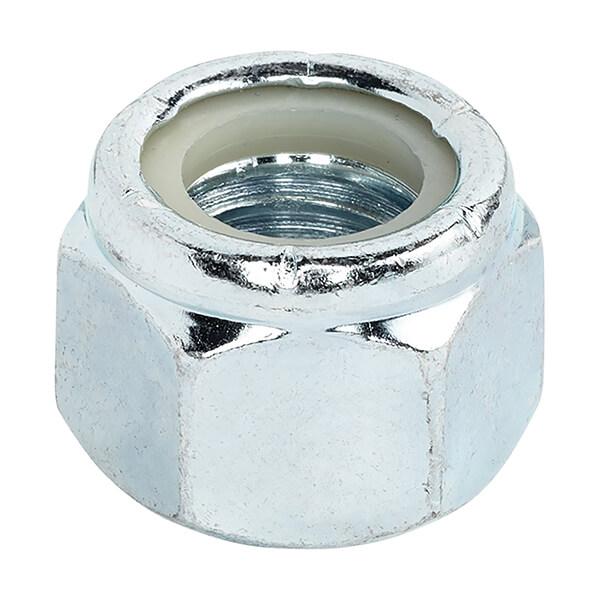Hexagonal Lock Nuts - 1/2-in-13 Thread - 4 Pack