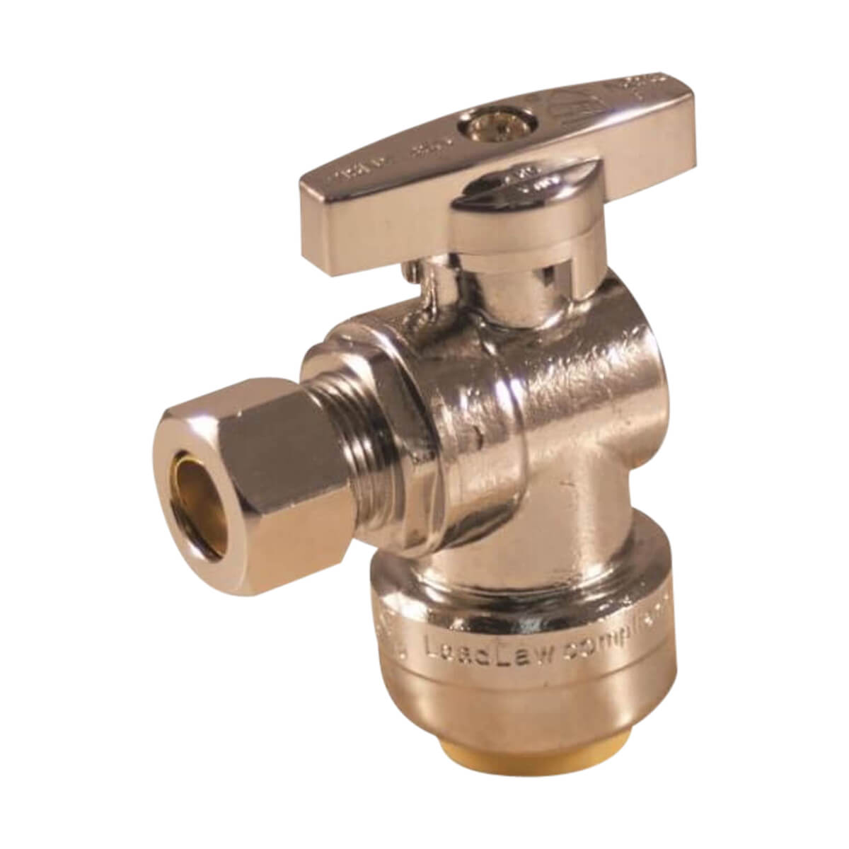 1/2-in Push-Fit X 3/8-in Compression Angle Valve