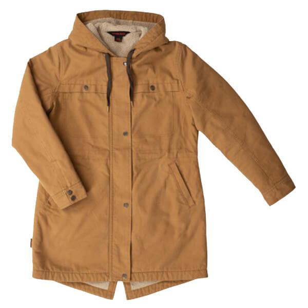 Ladies Lined Sherpa Brown Jacket